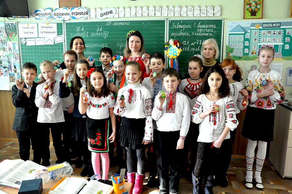 писанкарство в школе 291 г. Киев