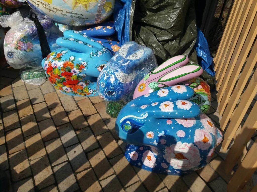 пасхальные кролики ждут своего выхода на подиум_фото1 Натальи Белоус